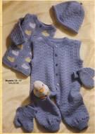 Trajes de bebes tejidos de una sola pieza