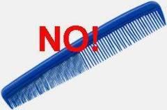 Evitar el uso de peine fino en pelo fino