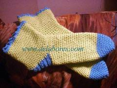 Calcetines de ganchillo, tejidos a crochet