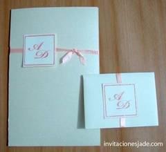 Invitación de boda con sobre para dinero