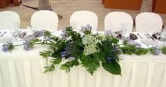 Decoración floral para bodas en la playa