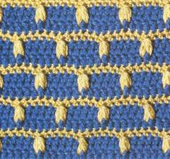 Patrones de puntos de ganchillo a dos colores