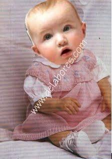 Vestidos tejidos de punto para bebés